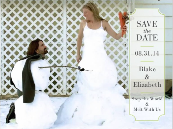 Snowman Save the Date